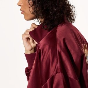 ARITZIA Golden by TNA Bomber Jacket Embroidery